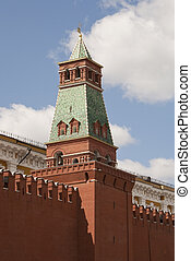 Senatskaya tower at Red Square in Moscow, Russia