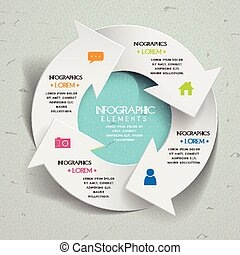 sencillez, infographic, diseño, plantilla
