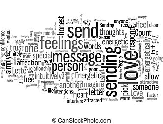Send an Energetic Love Letter text background wordcloud concept