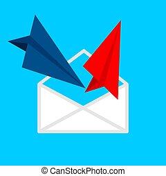 Send and receive e-mail icon.