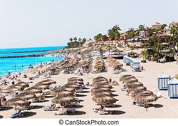 Send beach at Adeje Tenerife Spain