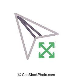 send  color line icon