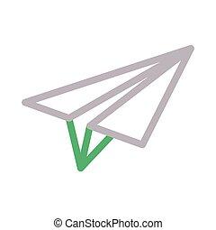send colour line vector icon