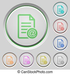 Send document as email push buttons
