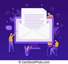 Send email flat illustration