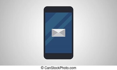 Send email from smartphone HD animation - Send secure email...