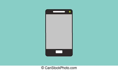 Send email from smartphone HD animation