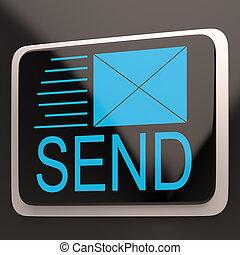 Send Envelope Shows Email Message Inbox Online