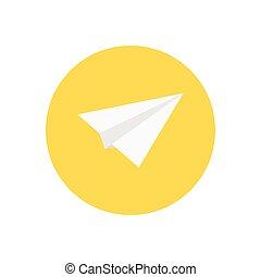 send  flat color icon