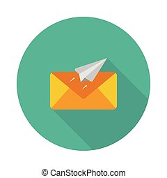 send flat icon