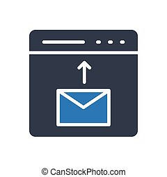 send glyph color icon