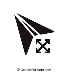 send glyph flat icon