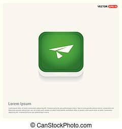 Send icon Green Web Button