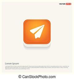 Send icon Orange Abstract Web Button
