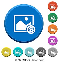 Send image as email beveled buttons