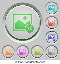 Send image as email push buttons