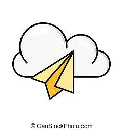 send line flat icon