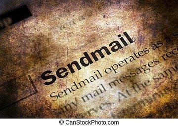 Send mail grunge concept