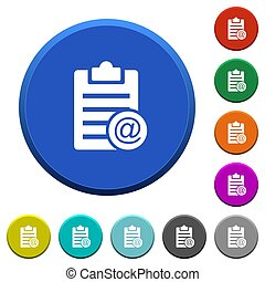 Send note as email beveled buttons
