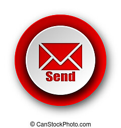 send red modern web icon on white background