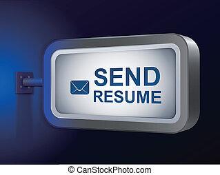 send resume words on billboard