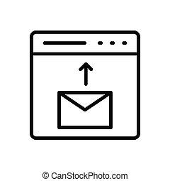 send thin line icon