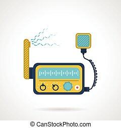 senderempfänger, vektor, radio, wohnung, ikone