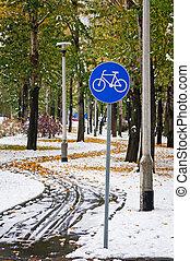 sendero bicicleta