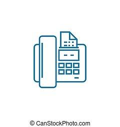 Sending a fax linear icon concept. Sending a fax line vector...
