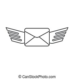 Sending a message icon vector isolated on white background