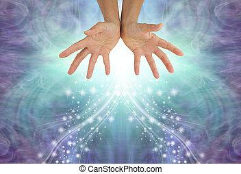 Sending cooling blue healing energy