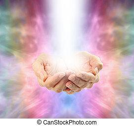 Sending Distant Healing - Bright healing energy emerging ...