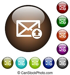 Sending email color glass buttons
