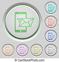 Sending email push buttons