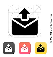 Sending mail icon. Vector illustration.
