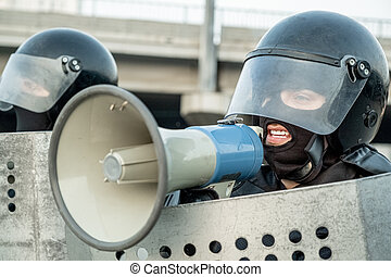 Sending message through loudspeaker