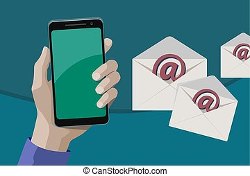 Sending multiple e-mails from a smartphone