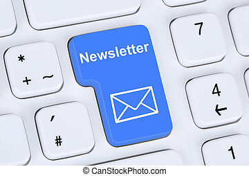 Sending newsletter on internet for business marketing...