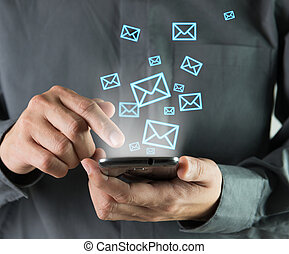 Sending sms - Concept of sending message wireless using...