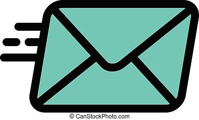 sending vector colour line icon