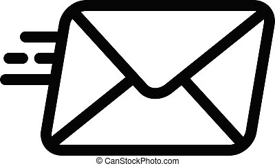 sending vector thin line icon