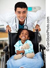 sendo, cared, criança, doutor jovem
