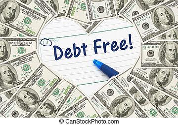sendo, dívida, amor, livre