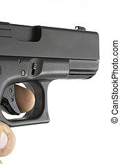 sendo, handgun, apontado
