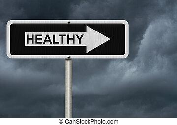sendo, saudável, maneira