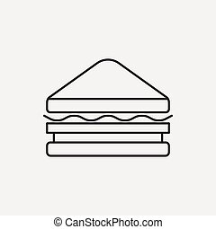 sendvič, řádka, ikona