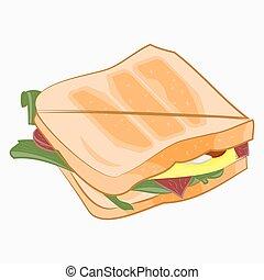 sendvič, illustration.