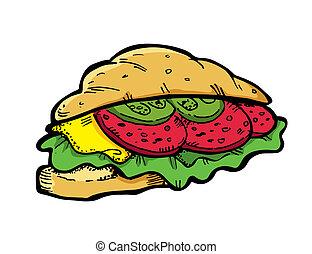 sendvič, klikyháky
