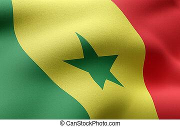 Senegal 3d flag