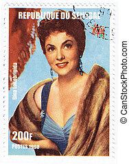 senegal, -, circa, 1998, :, postzegel, bedrukt, in, senegal,...